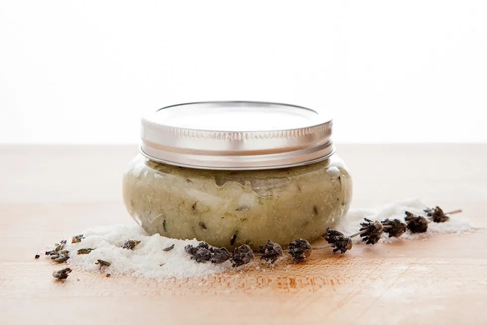 lavender grapeseed body scrub