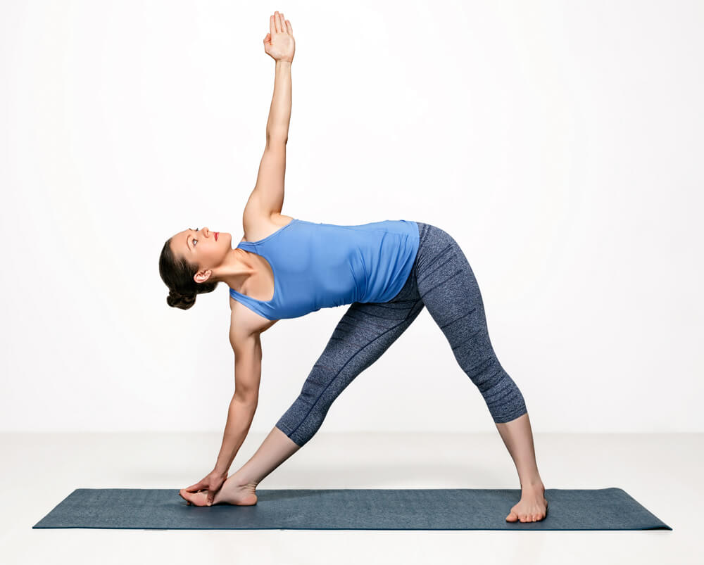 revolved triangle pose