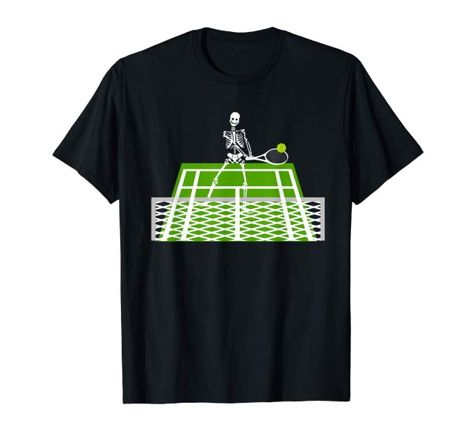 Skeleton Playing Tennis T-Shirt