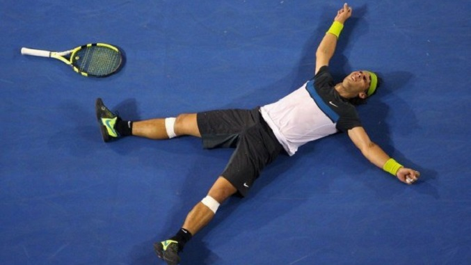 exhausted tennis player