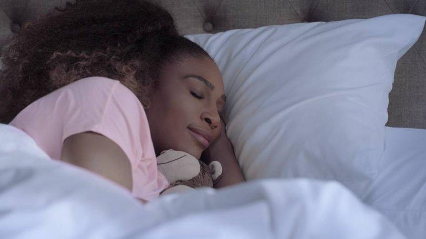 Serena Williams sleeping