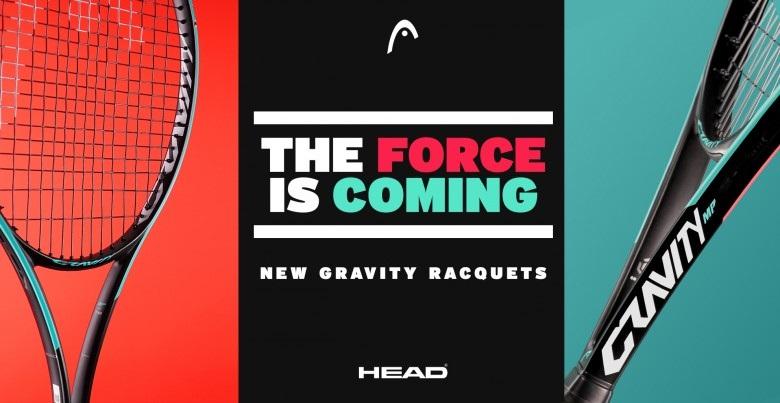 "The HEAD ""Gravity"" MP tennis racquet"