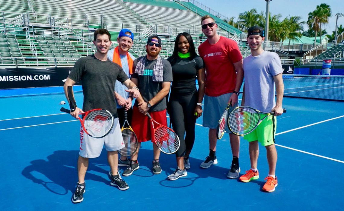 serena williams and dude perfect