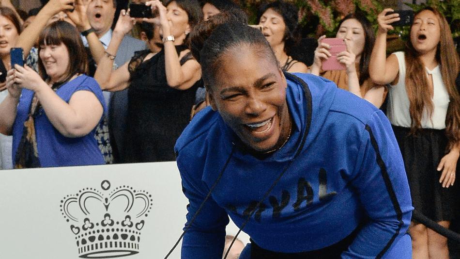 Serena Williams laughing
