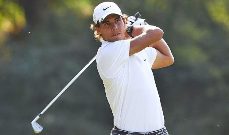 Rafael Nadal playing golf