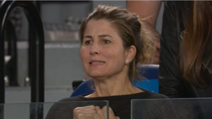 Mirka Federer at the Australian Open 2020
