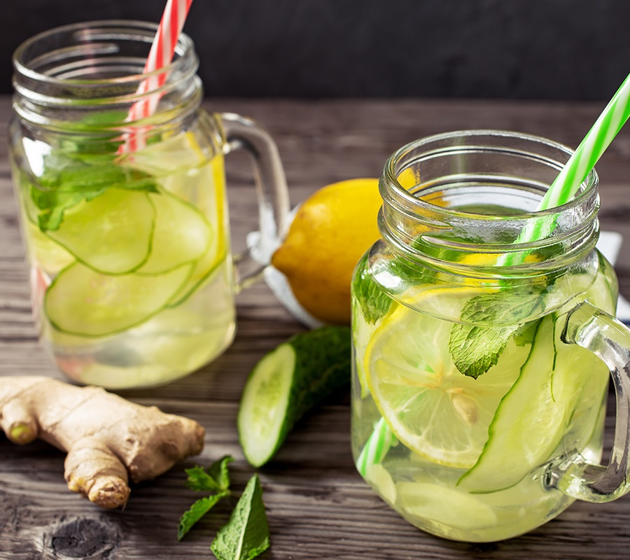 citrus mint detox water