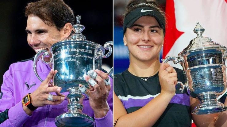 2019 US Open champions Rafael Nadal and Bianca Andreescu