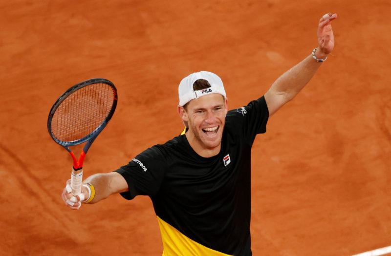 Diego Schwartzman at French Open